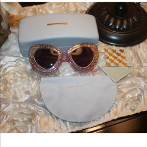 Karen Walker Pink Metallic Silver Sunglasses